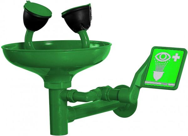 Augendusche mit Becken aus ABS, Wandmontage,Grün, Acrylnitrilbutadienstyrol