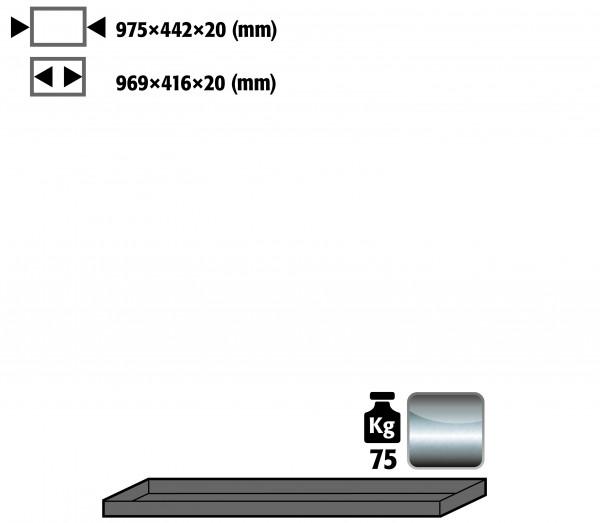 Fachboden Standard für Modell(e): UB90, UB30 mit Breite 1100 mm, Edelstahl 1.4301 roh