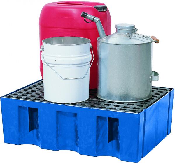 Auffangwanne PE-LD mit PE-Gitterrost 725x525x235, Polyethylen (low density)