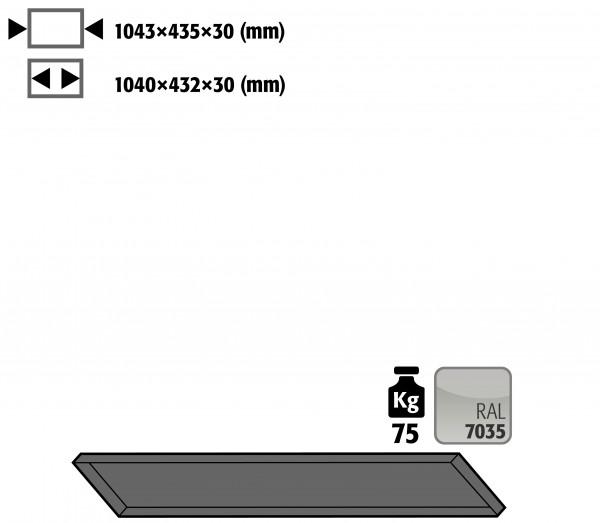 Fachboden Standard schräg für Kleinflaschenlagerung für Modell(e): G90 mit Breite 1200 mm, Stahlblech pulverbeschichtet glatt