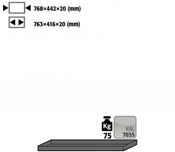 Fachboden Standard für Modell(e): UB90 mit Breite 890/1400 mm, Stahlblech pulverbeschichtet glatt