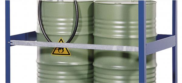 Zusätzlicher Sicherheitsbügel für Gefahrstoffstation, Stahl verzinkt