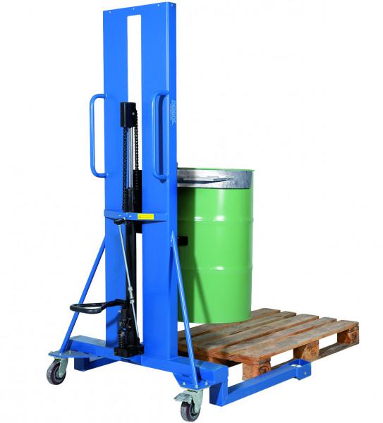 Fasslifter Servo mit Klammer für Stahlfässer, Stahl lackiert