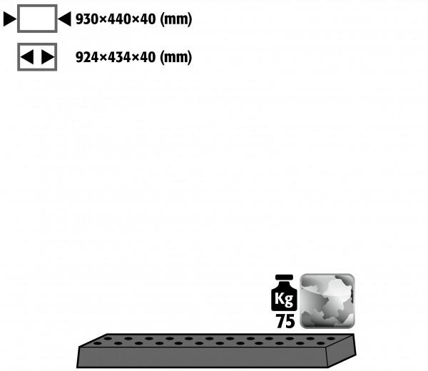 Lochblecheinsatz Standard für Modell(e): E, EP, EM mit Breite 950 mm, Stahlblech verzinkt