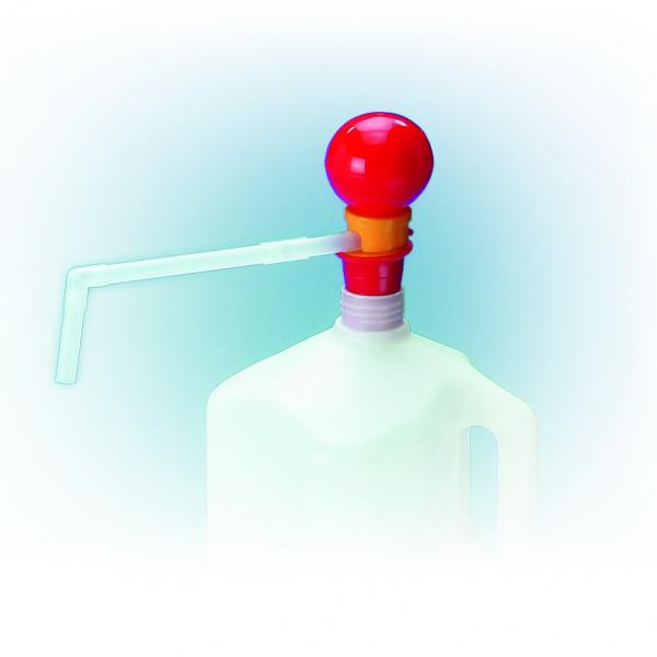 Handpumpe Mini aus PP mit Auslaufbogen 4 L, Eintauchtiefe 450 mm, Polypropylen