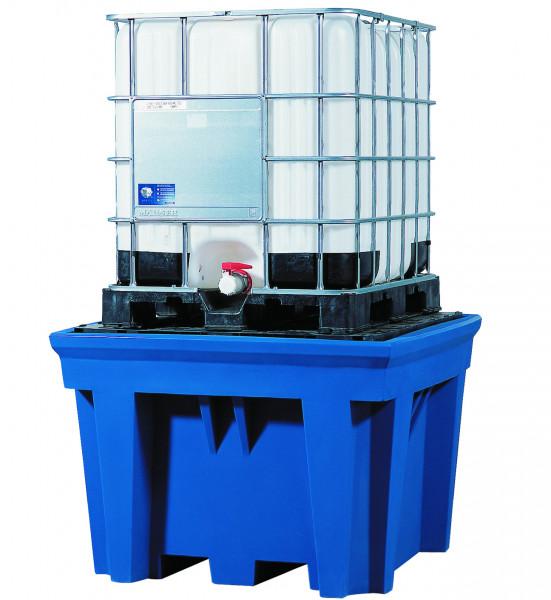 IBC-Station PE-LD mit PE-Stellfläche 1430x1430x965, Polyethylen (low density)