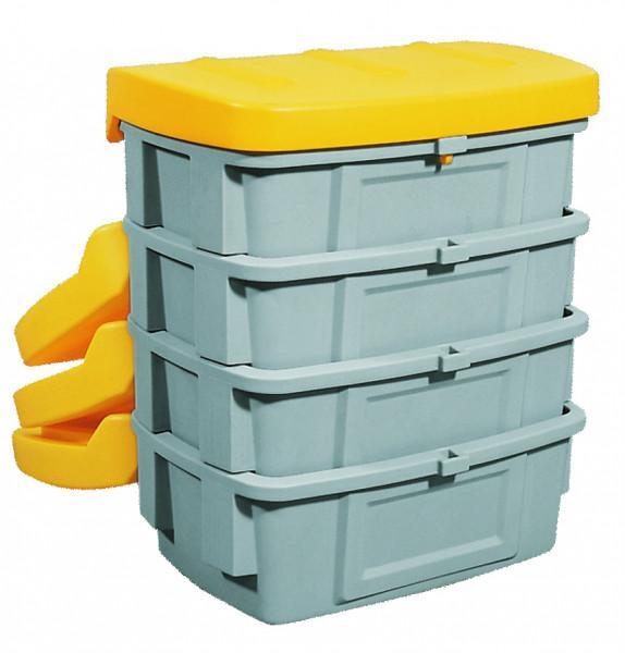 Streugutbehälter PE ohne Entnahmeöffnung Gelb, 200 L, Polyethylen