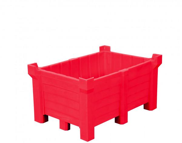 Stapelbehälter PE Rot geschlossen, 260 L, 800x600x1000, Polyethylen