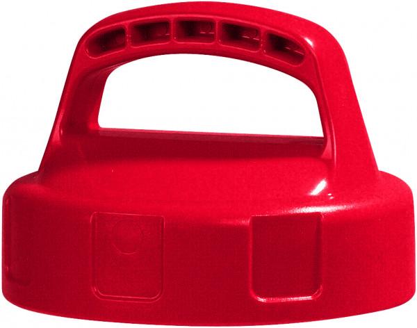 Lager- und Transportdeckel aus Polyethylen (HDPE) Rot, Polyethylen (high density)