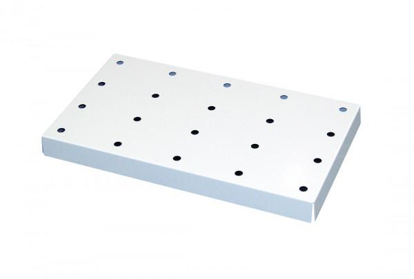 Lochblecheinsatz Standard für Modell(e): Q90, S90, UB90 mit Breite 890/1400 mm, Stahlblech pulverbeschichtet glatt