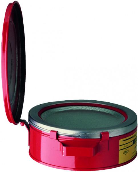 Kleinteilereiniger Stahlblech pulverbeschichtet Rot 2 Liter, Stahlblech verzinkt und pulverbeschichtet