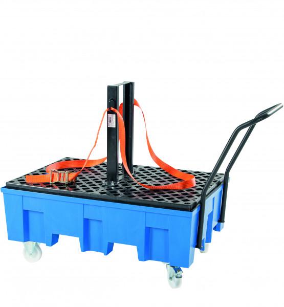 Ladungssicherungs-Set für fahrbare 2-Fass-Wanne, Stahl lackiert