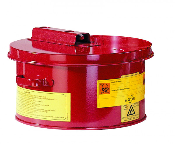 Wasch- und Tauchbehälter, Rot, 4 Liter, Stahlblech verzinkt und pulverbeschichtet