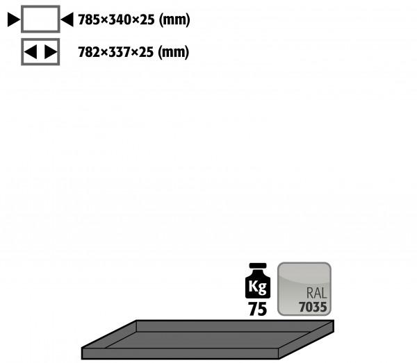 Fachboden Standard für Modell(e): G30 mit Breite 900 mm, Stahlblech pulverbeschichtet glatt