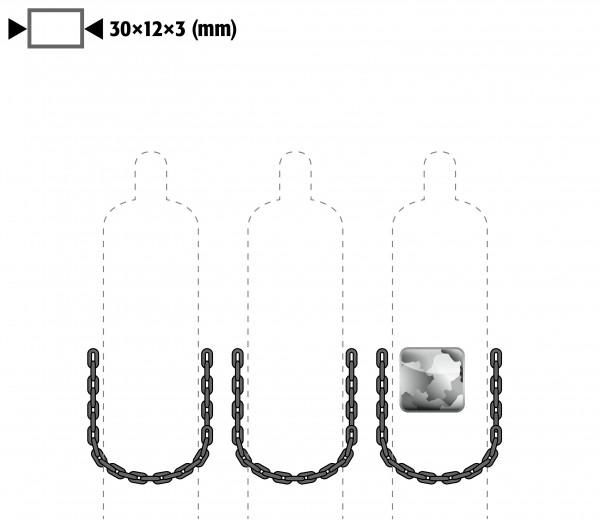 Kettensicherung anstelle Gurtsicherung für Modell(e): G90 mit Breite 900 mm, Stahl verzinkt