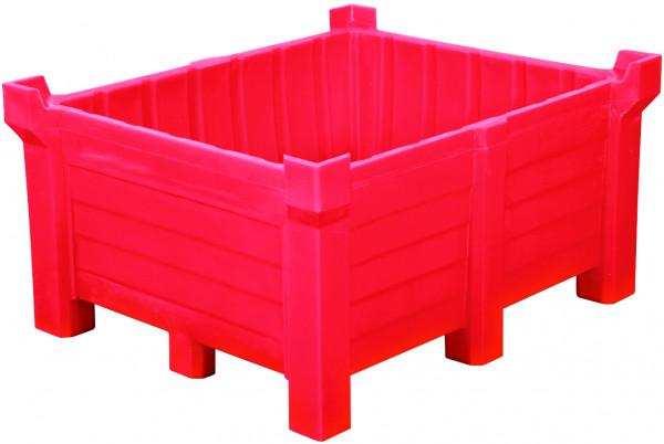 Stapelbehälter PE Rot geschlossen, 300 L, 800x600x1200, Polyethylen