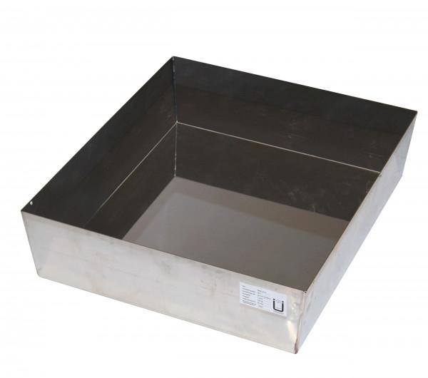 Bodenauffangwanne STAWA-R Höhe = 170 mm (Volumen: 33,00 Liter) für Modell(e): Q90, S90 mit Breite 600 mm, Edelstahl 1.4301 roh