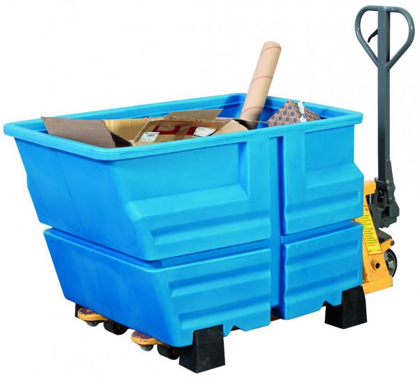 Mehrzweckbehälter PE Blau mit Füssen, 800 L, 1340x845x1030, Polyethylen