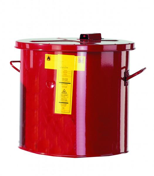 Wasch-und Tauchbehälter, Rot, 30 Liter, Stahlblech verzinkt und pulverbeschichtet