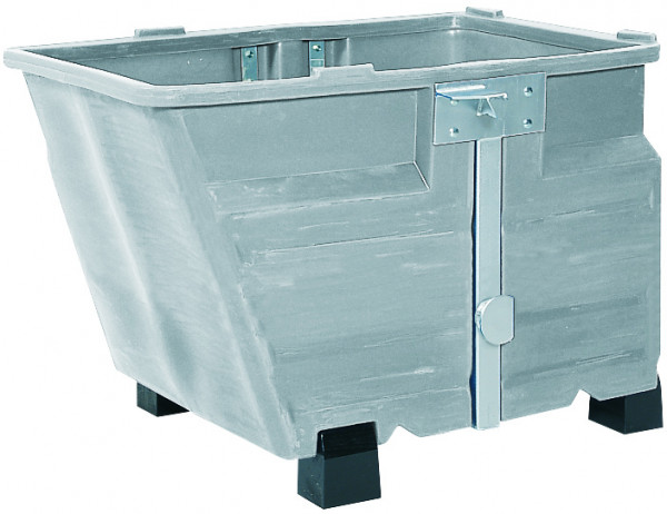 Kippbehälter PE Grau mit Füssen, 800 L, 1340x845x1160, Polyethylen