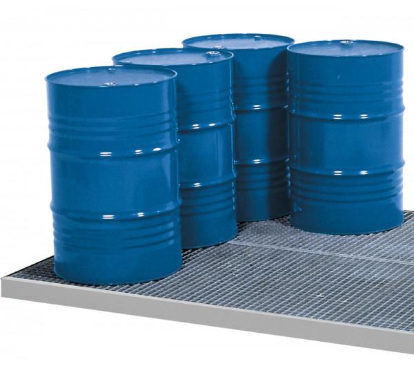 Bodenelement befahrbar Stahl mit verzinktem Gitterrost 1362x1362x78, Stahl verzinkt