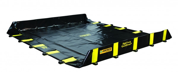 Leckage-Faltwanne befahrbar ohne Gitterrost 3200x3200x305, Textil PVC-beschichtet