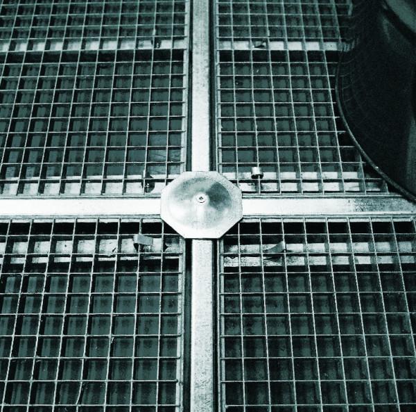 Kreuzverbinder Stahl verzinkt für Bodenelemente PE, Stahl verzinkt