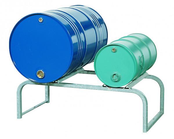 Fassbock für 2 Fass à 200 L 1160x600x380, Stahl verzinkt