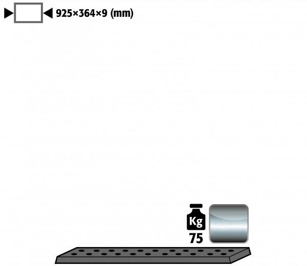 Lochblecheinsatz Standard Höhe = 9 mm für Modell(e): UB90 mit Breite 1100 T=500 mm, Edelstahl 1.4016 roh