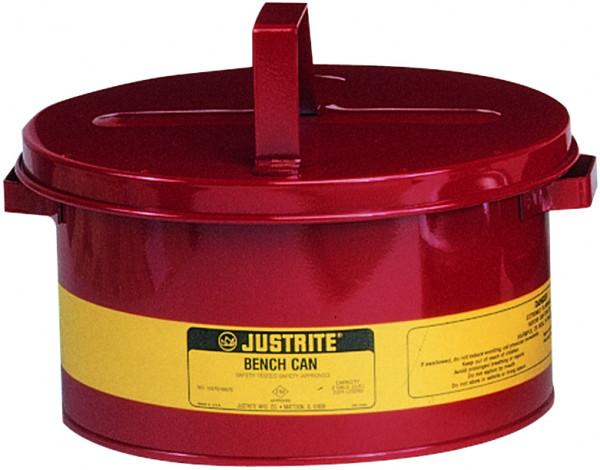Kleinteilereiniger Stahlblech pulverbeschichtet Rot 8 Liter, Stahlblech verzinkt und pulverbeschichtet
