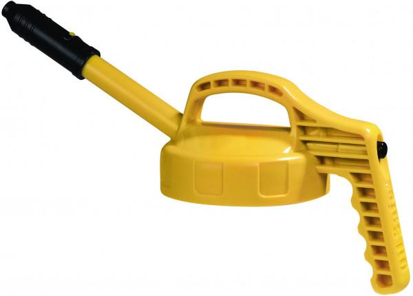 Deckel mit langer Auslauftülle HDPe Gelb, für Ölkanne