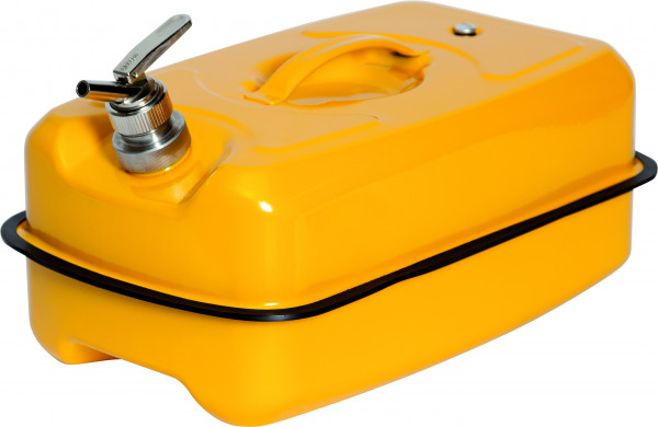 Sicherheitskanister mit Feindosierhahn Stahl lackiert 20 Liter, Stahlblech verzinkt und pulverbeschichtet