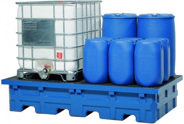 IBC-Station PE-LD mit PE-Gitterrost 2480x1410x490, Polyethylen (low density)