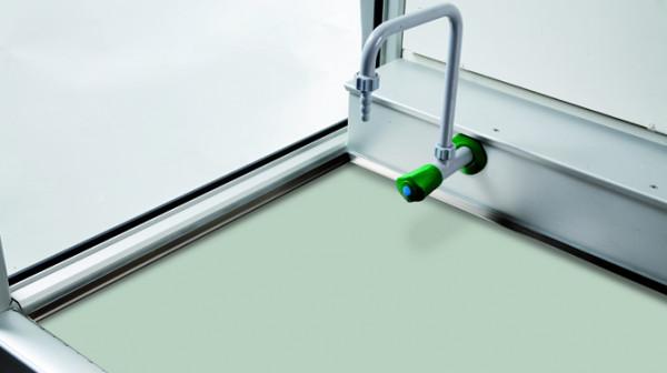Arbeitsfläche FP-Platte (RAL 7035) für GAP mit Breite 1500 und Tiefe 750 mm , FP-Platte melaminharz-beschichtet
