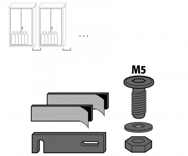 Montagesatz für die laterale Anreihung für Modell(e): GOD mit Breite 700 1000 u.1350 mm