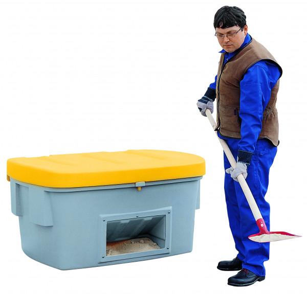 Streugutbehälter PE mit Entnahmeöffnung Gelb, 700 L, Polyethylen