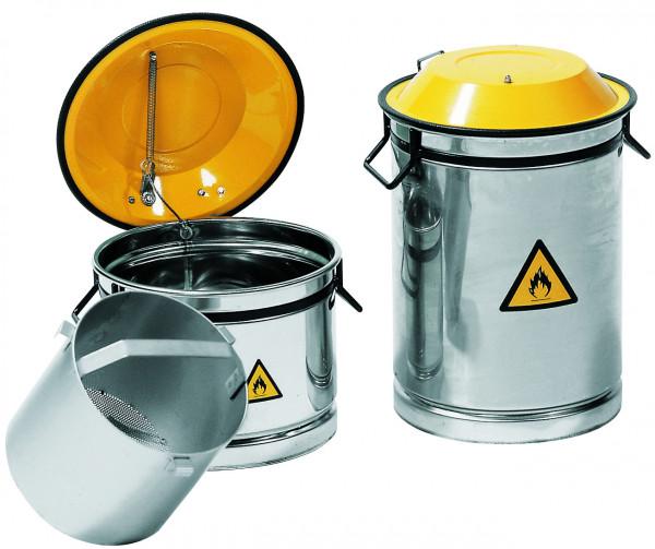Wasch- und Tauchbehälter aus Edelstahl 20 Liter, Edelstahl 1.4301 pulverbeschichtet glatt