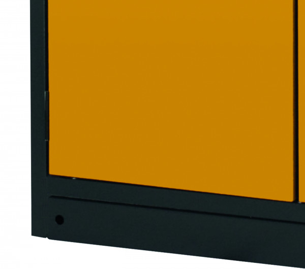Sockelblende für Modell(e): Q90 mit Breite 600 mm, Stahlblech pulverbeschichtet struktur