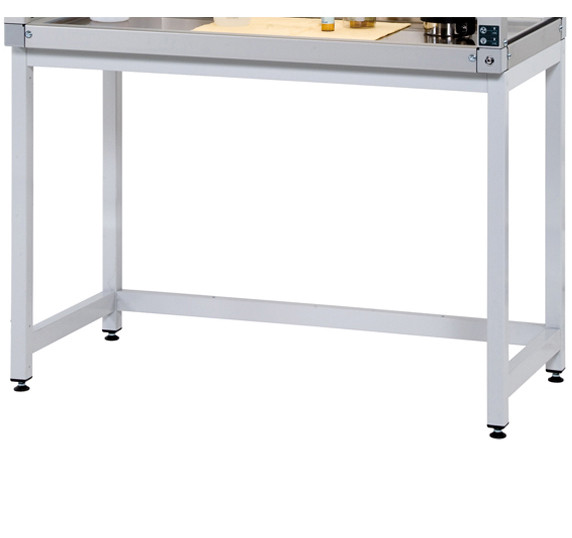 Untergestell Stahl (RAL7035/stehend) für GAP mit Breite 1800 und Tiefe 600 mm, Stahl pulverbeschichtet glatt