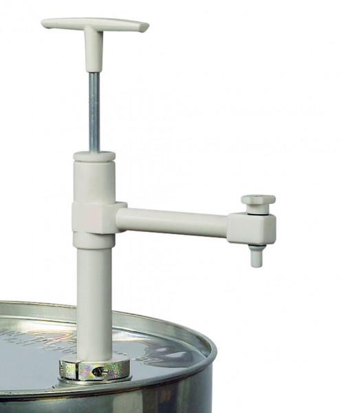 Fasspumpe und Ventile aus PTFE mit Auslaufbogen und Absperrhahn, Polytetrafluorethylen
