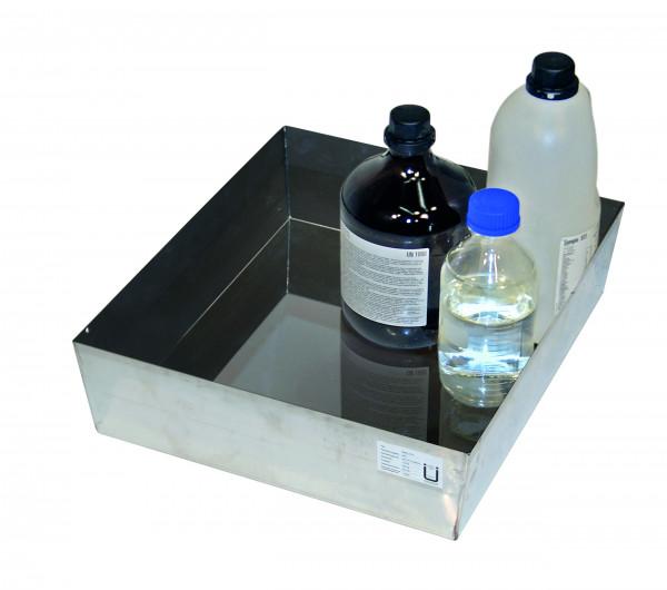 Wannenboden Standard (Volumen: 22,00 Liter) für Modell(e): Q90, S90 mit Breite 600 mm, Edelstahl 1.4301 roh