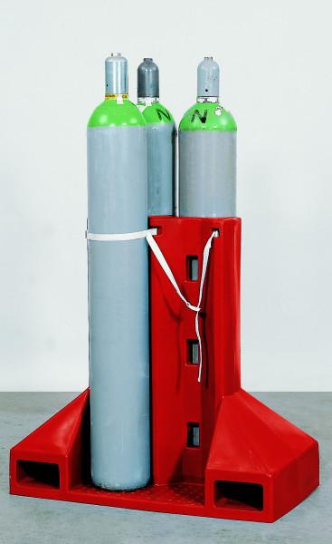 Gasflaschentransportgestell aus PE für 4 Flaschen max. Ø 230 mm, Polyethylen