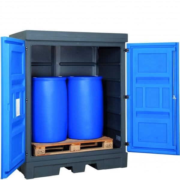 Depot unterfahrbar PE ohne Gitterrost 1560x1080x1980, Polyethylen
