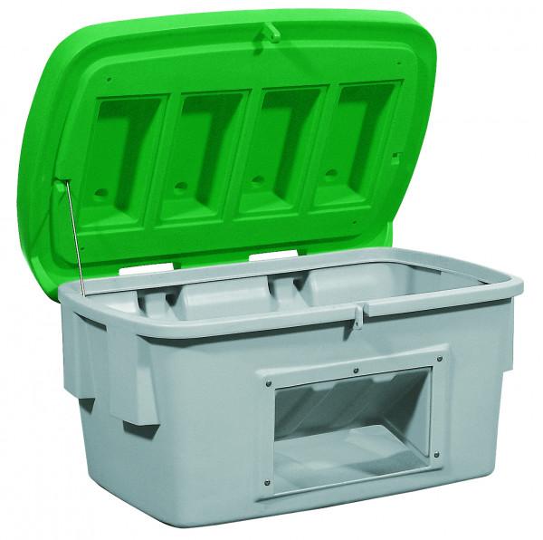 Streugutbehälter PE mit Entnahmeöffnung Grün, 200 L, Polyethylen