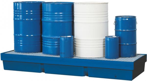 Auffangwanne PE-LD mit verzinktem Gitterrost 2460x845x285, Polyethylen (low density)