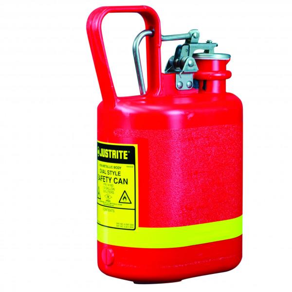 Sicherheitsbehälter Polyethylen Rot, Inhalt: 4 Liter, Polyethylen
