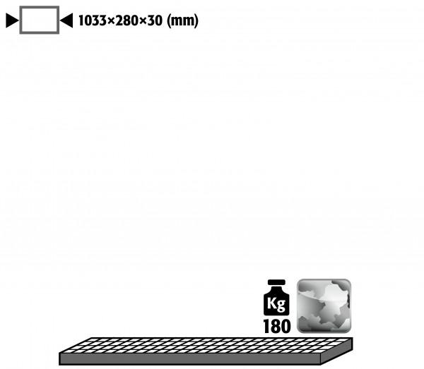 Gitterrost als Lagerebene für Modell(e): G90 mit Breite 1200 mm, Stahl verzinkt