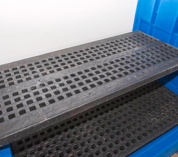 Fassarretierung (4 St.) zur Auflage auf Gitterroste 9862/9868, Polyethylen