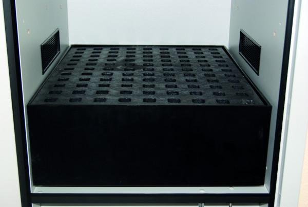 Auffangwanne mit Gitterrost (Volumen: 68,00 Liter) für Modell(e): SL mit Breite 600 mm, Polyethylen roh
