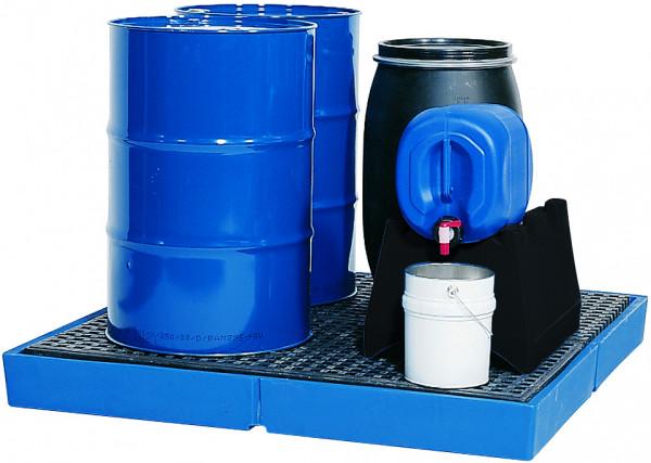 Bodenelement befahrbar PE-LD mit PE-Gitterrost 1500x1500x150, Polyethylen (low density)